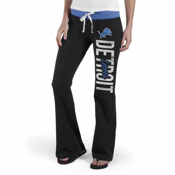 Detroit Lions 47 Brand Women's Black Sweatpants
