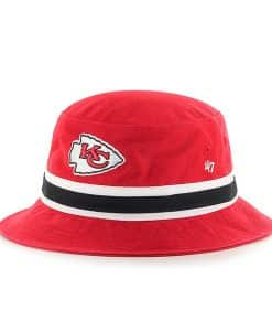 Kansas City Chiefs 47 Brand L/XL Striped Red Bucket Hat