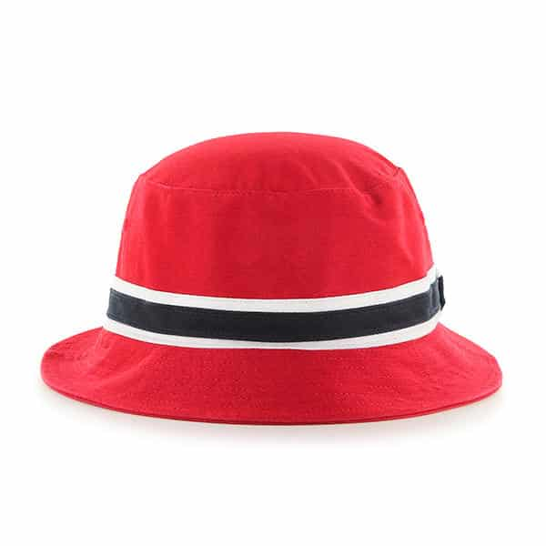 Kansas City Chiefs 47 Brand L/XL Striped Red Bucket Hat Back