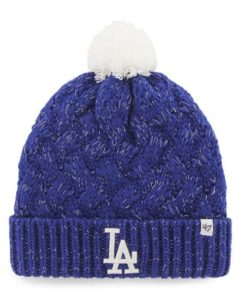5bf4640ae873d Los Angeles Dodgers Women s 47 Brand Blue Fiona Cuff Knit Hat