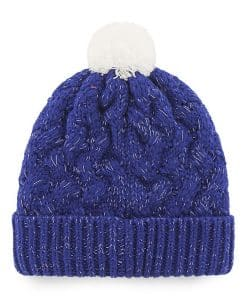 Los Angeles Dodgers Women's 47 Brand Blue Fiona Cuff Knit Hat Back