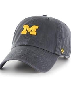 Michigan Wolverines 47 Brand Vintage Navy Clean Up Adjustable Hat