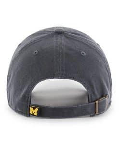 Michigan Wolverines 47 Brand Vintage Navy Clean Up Adjustable Hat Back