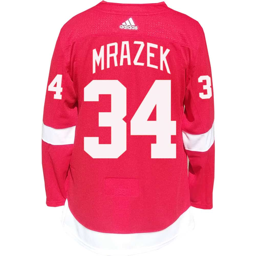 Petr Mrazek Detroit Red Wings Men's Adidas AUTHENTIC Home Jersey