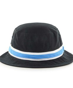 Carolina Panthers 47 Brand Striped Bright Blue Bucket Hat Back