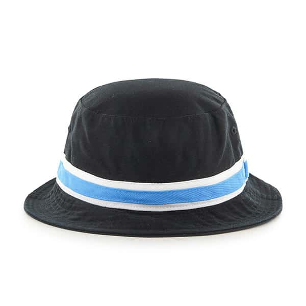 Carolina Panthers 47 Brand Striped Bright Blue Bucket Hat Back