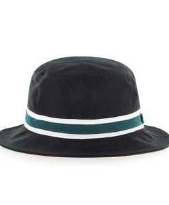 Philadelphia Eagles 47 Brand Striped Black Bucket Hat Back
