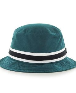Philadelphia Eagles 47 Brand Striped Pacific Green Bucket Hat Back