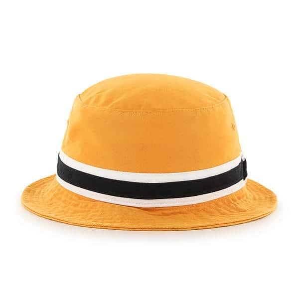 1e4f5fc1de5 Pittsburgh Steelers 47 Brand Striped Gold Bucket Hat - Detroit Game Gear