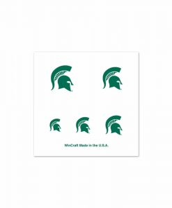 Michigan State Spartans Fingernail Tattoos