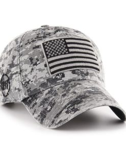Operation Hat Trick Gray Digital Camo 47 Brand USA Flag Hat
