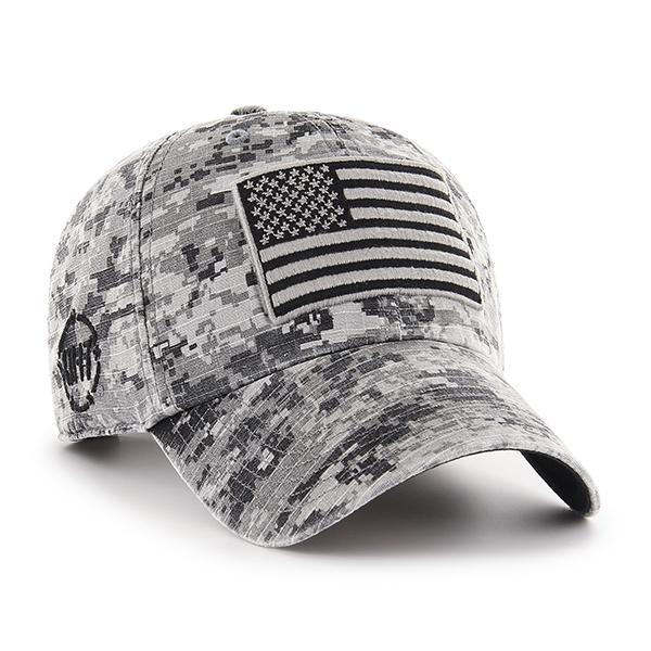 b33ba2e57ccc7 Operation Hat Trick Gray Digital Camo 47 Brand Adjustable USA Flag ...