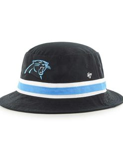 Carolina Panthers 47 Brand Striped Bright Blue Bucket Hat