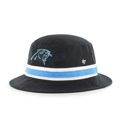 Carolina Panthers 47 Brand Striped Bright Blue Bucket Hat