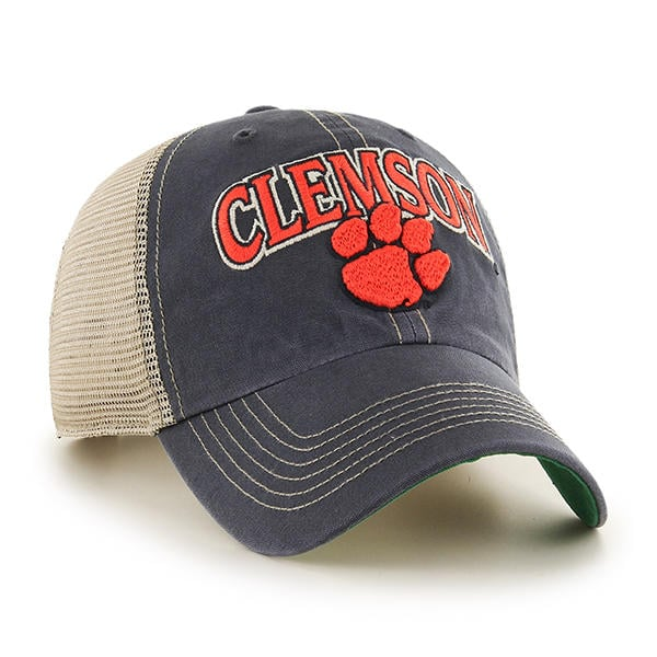 Clemson Tigers 47 Brand Tuscaloosa Vintage Navy Clean Up Adjustable Hat  Side View 20baca2d5ed