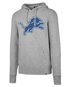 Detroit Lions 47 Brand Men's Headline Gray Hoodie