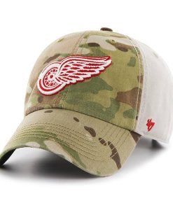 Detroit Red Wings Camo Multicam Clean Up 47 Brand Adjustable Hat