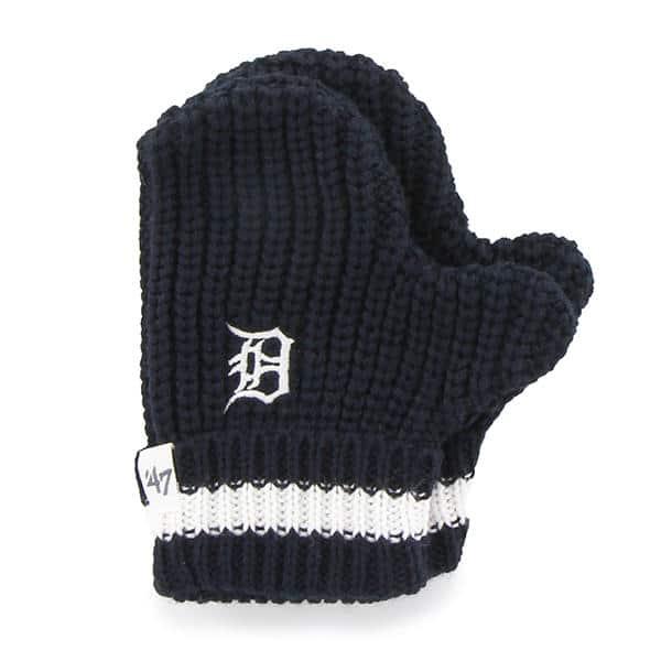 Detroit Tigers 47 Brand TODDLER Navy Knit Mittens