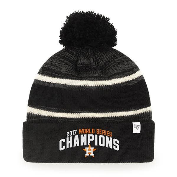 6447c7b2ec9 Houston Astros Champions Black Cuff Knit 47 Brand Beanie Hat - Detroit Game  Gear