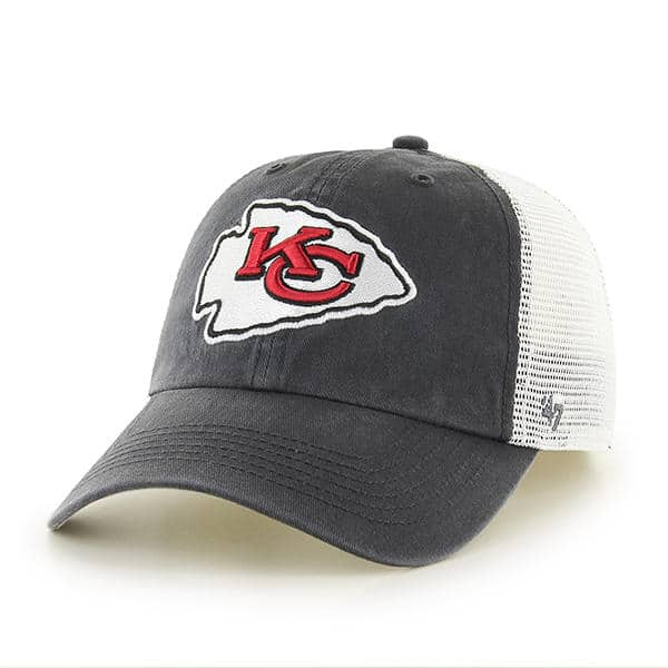 Kansas City Chiefs Closer Charcoal 47 Brand Stretch Fit Hat