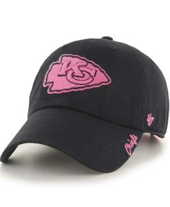 Kansas City Chiefs Women's 47 Brand Pink Black Clean Up Hat