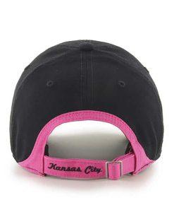 Kansas City Chiefs Women s 47 Brand Pink Black Clean Up Hat. Kansas City  Chiefs Hats b857ffe9f2a2