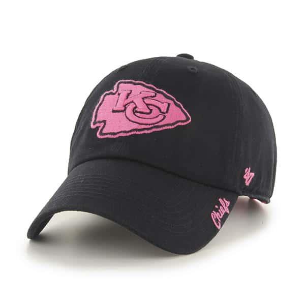 Kansas City Chiefs Women's 47 Brand Pink Black Clean Up Hat