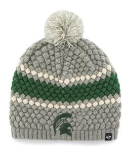 Michigan State Spartans 47 Brand Women's Leslie Knit Gray Hat
