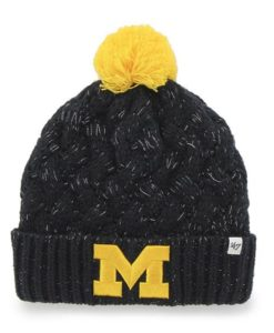 Michigan Wolverines Women's 47 Brand Fiona Cuff Knit Hat