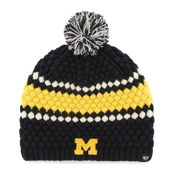 Michigan Wolverines Women's 47 Brand Leslie Knit Hat
