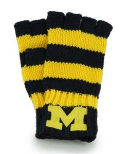 Michigan Wolverines Women's 47 Brand North Slope Fingerless Gloves