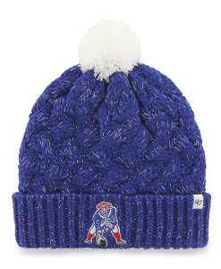 New England Patriots Women's 47 Brand Classic Blue Fiona Cuff Knit Hat