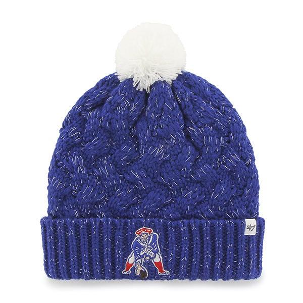 New England Patriots Women's 47 Brand Classic Blue Fiona Cuff Knit Hat