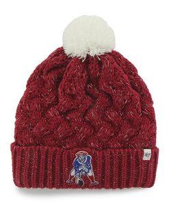 New England Patriots Women's 47 Brand Dark Red Fiona Cuff Knit Hat