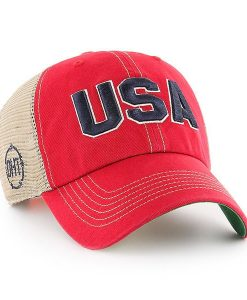 e9400dd96d924 Operation Hat Trick Clean Up Trawler Red 47 Brand Adjustable USA Flag Hat