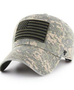 Operation Hat Trick Digital Camo Nilan 47 Brand Adjustable USA Flag Hat
