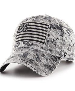 best website 57e29 820f7 ... Operation Hat Trick Gray Digital Camo 47 Brand Adjustable USA Flag Hat