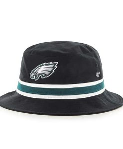 Philadelphia Eagles 47 Brand Striped Black Bucket Hat