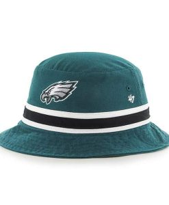 Philadelphia Eagles 47 Brand Striped Pacific Green Bucket Hat