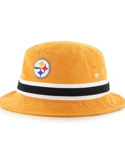 Pittsburgh Steelers 47 Brand Striped Gold Bucket Hat