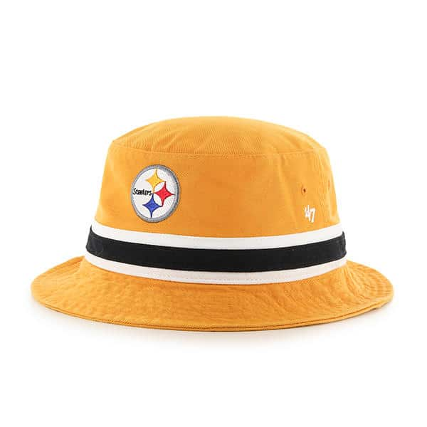 2689539b5404d Pittsburgh Steelers 47 Brand Striped Gold Bucket Hat - Detroit Game Gear