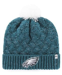 Philadelphia Eagles Women's 47 Brand Green Fiona Cuff Knit Hat