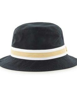 New Orleans Saints 47 Brand Striped Black Bucket Hat Back