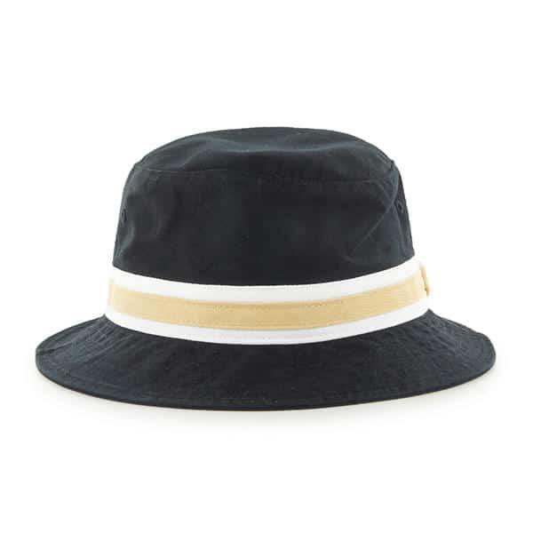 New Orleans Saints 47 Brand Striped Black Bucket Hat Back
