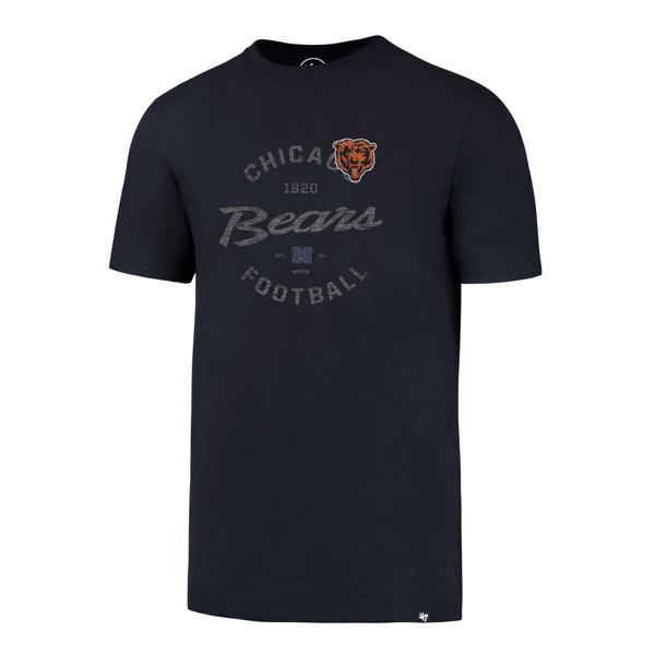 Chicago Bears Men's 47 Brand Navy Crosstown Flanker T-Shirt