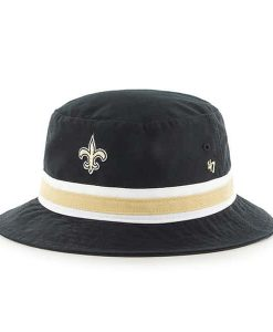 New Orleans Saints 47 Brand Striped Black Bucket Hat