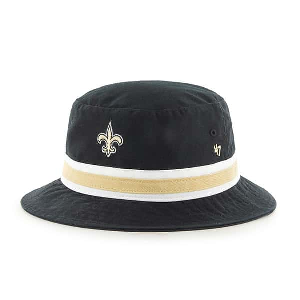a75495a3361323 ... clearance new orleans saints 47 brand striped black bucket hat 88dcc  9df55 ...