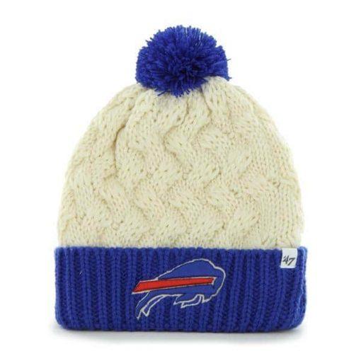Buffalo Bills Women's 47 Brand Natural Cuff Knit Hat