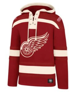 Detroit Red Wings Men's 47 Brand Red Pullover Jersey Hoodie