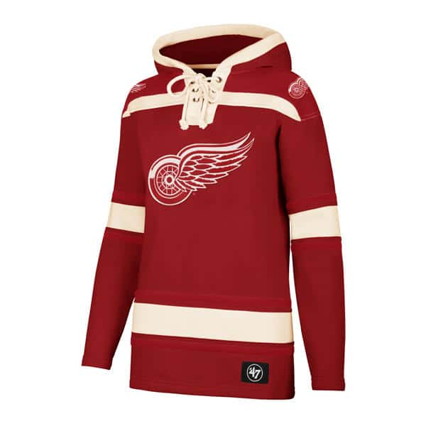 3f68bad0 Detroit Red Wings Women's 47 Brand Red Pullover Jersey Hoodie ...